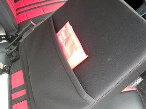画像2: ユーズド品 スポーツシートカバー赤黒 ハイゼットトラック(S2**P 初期〜平成23年11月まで)用