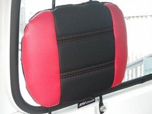 画像3: ユーズド品 スポーツシートカバー赤黒 ハイゼットトラック(S2**P 初期〜平成23年11月まで)用