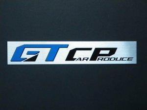 画像1: GT CAR Produceステッカー シルバー 230×40