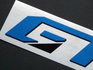 画像2: GT CAR Produceステッカー シルバー 230×40