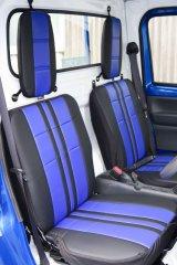 フェア限定品 スポーツシートカバー黒/青 キャリイ(DA16T)1型用